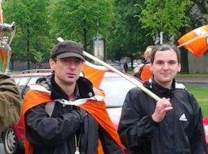 Rüdiger Pfeilsticker und Hannes Amelung beim CSD