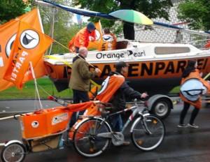 Die Orange Pearl auf dem CSD-Umzug