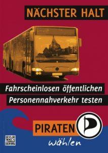 Plakat Bundestagswahlkampf 2013 Piratenpartei