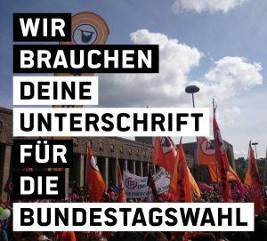 Die Piratenpartei braucht deine Unterschrift für die Bundestagswahl